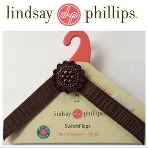 LINDSAY PHILLIPS SWITCHFLOPS STRAPS BEADED BROWN M